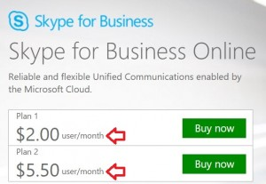 Precios de Skype para negocios
