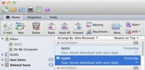Problemas para registrar identidades en Outlook para Mac