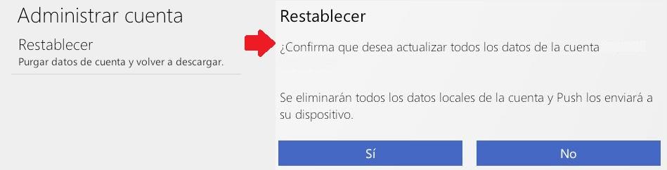 Purgar una cuenta de Outlook.com para Android