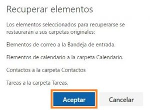 Restaurar correos eliminados en Outlook.com
