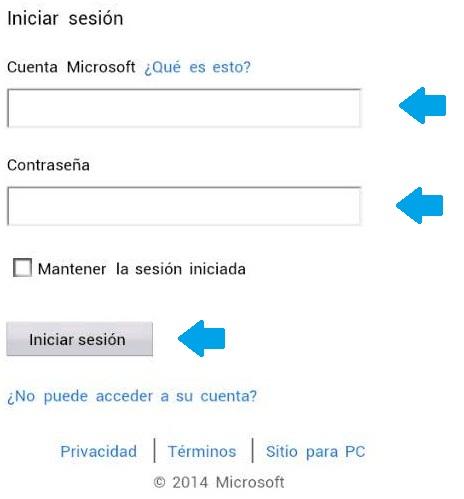 Revisar el correo de Outlook desde el navegador del teléfono