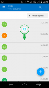 Sincronizar correos en Outlook para Android