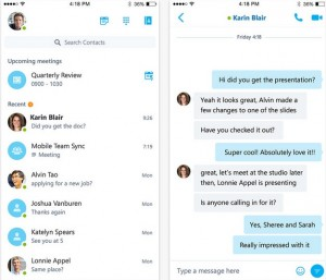 Skype for business en iOS