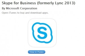 Skype para negocios en iOS