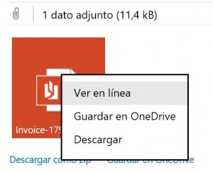 Ver los documentos adjuntos en Outlook.com