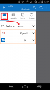 Verificar las cuentas sincronizadas en Outlook para Android