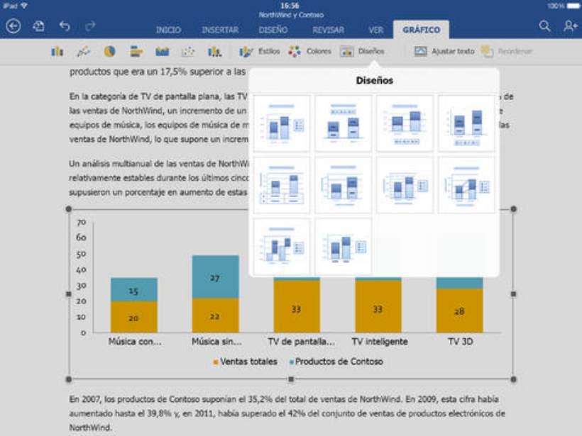 Versión de Word para iPad