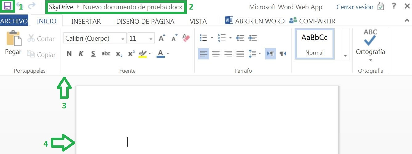 Word con Outlook.com