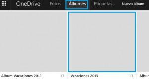 albumes en OneDrive