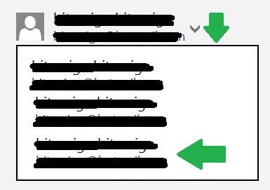 alias para enviar un correo en Outlook.com
