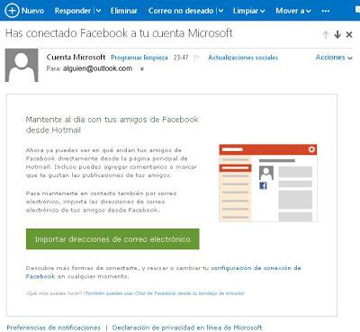 conectar facebook a cuenta microsoft