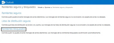 bloquear remitentes en outlook