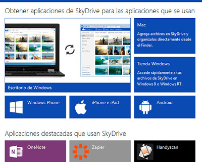 SkyDrive desde outlook