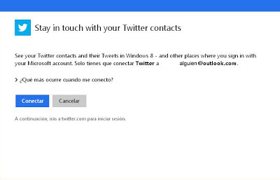 conectar twitter y outlook