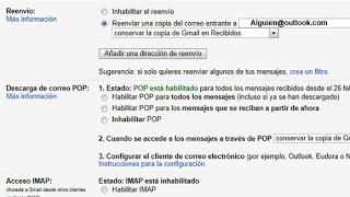 Configurar el reenvío de correo de Gmail a Outlook.com | Trucosoutlook.com