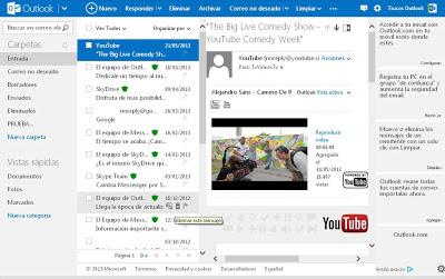 activar o desactivar el panel de lectura en Outlook.com | Trucosoutlook.com
