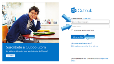 iniciar sesión outlook