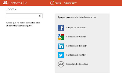 conectar facebook y outlook