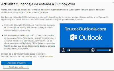 actualizar a outlook