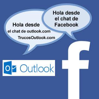 chatear con tus amigos de facebook desde outlook
