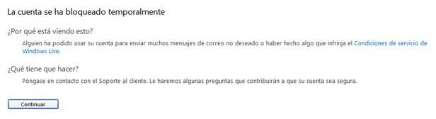 casilla de correo pirateada en Outlook.com