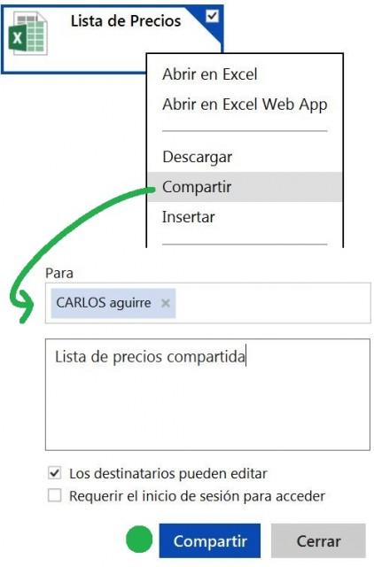 compartir archivos con SkyDrive