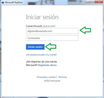 instalar SkyDrive